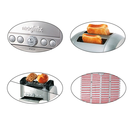 toaster grille pain lectrique 2 tranches magimix inox. Black Bedroom Furniture Sets. Home Design Ideas
