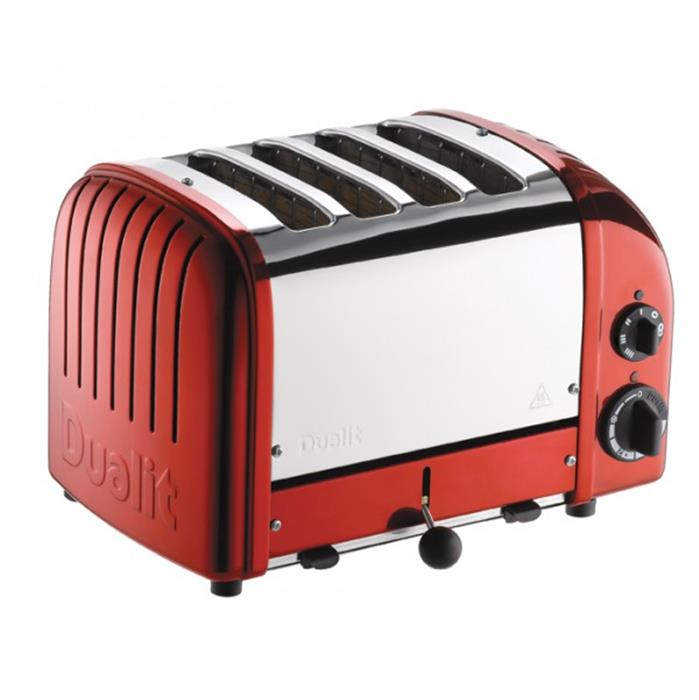 Grille Pain Toaster LE CLASSIC 2200 W 4T DUALIT Inox Rouge Candy ...