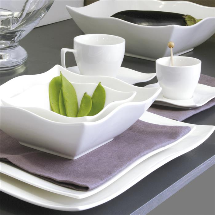 karena assiette carr e creuse porcelaine blanche 17 cm la casserolerie. Black Bedroom Furniture Sets. Home Design Ideas