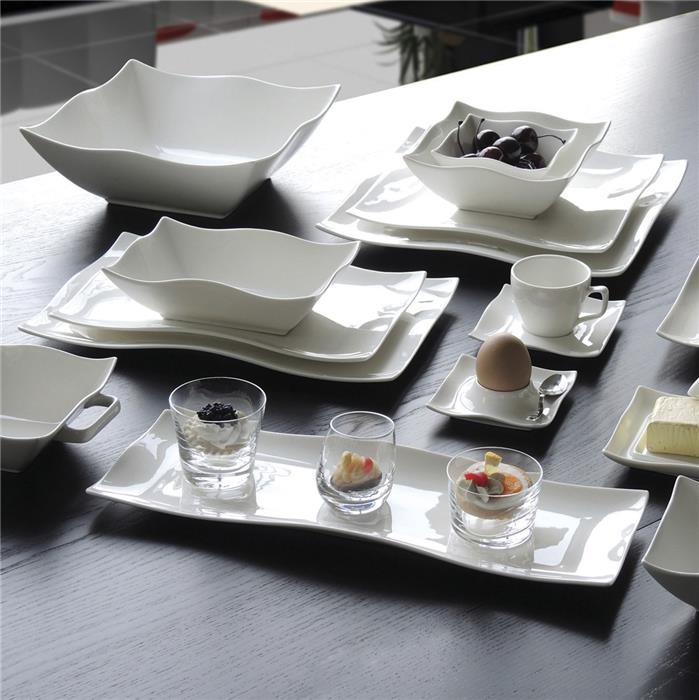 karena assiette carr e plate porcelaine blanche 26 5 cm la casserolerie. Black Bedroom Furniture Sets. Home Design Ideas