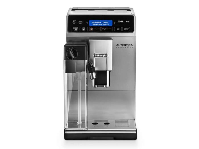 machine caf automatique expresso avec broyeur delonghi autentica cappuccino premium argent. Black Bedroom Furniture Sets. Home Design Ideas