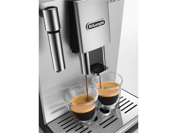 machine caf automatique expresso avec broyeur delonghi autentica premium argent la casserolerie. Black Bedroom Furniture Sets. Home Design Ideas