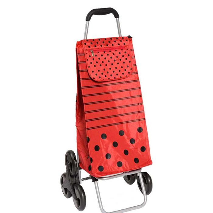 carlux pierrot poussette de march chariot de courses 6 roues sidebag rouge la casserolerie. Black Bedroom Furniture Sets. Home Design Ideas